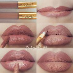 Trendy Makeup Tutorial Step By Step Lips Make Up Make Up Tutorial Contouring, Lip Tutorial, Lip Makeup Tutorial, Makeup Tutorial Step By Step, Lipstick Tutorial, Makeup Tutorial For Beginners, Makeup Guide, Eye Makeup Tips, Skin Makeup