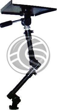 Soporte de ordenador portátil y cámara de vídeo o de fotos para coche, furgoneta o similar. Se trata de un brazo articulado, rotatorio y extensible que consigue adaptarse perfectamente al interior de vehículo. En la mayoría de los casos se instala sin necesidad de taladrar parte alguna del coche.