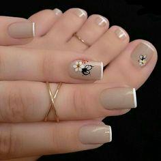 So Ni Manicure pedicure Nail art Nail design French Nail Designs, Toe Nail Designs, Perfect Nails, Gorgeous Nails, Nagel Stamping, Nagellack Trends, Manicure E Pedicure, Pedicure Colors, Pedicure Ideas