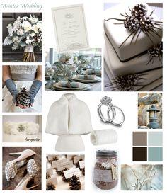 winter wedding ideas | Winter Wedding Colors – Inspiration Board