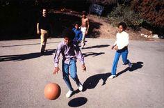 The jacksons playing basketball