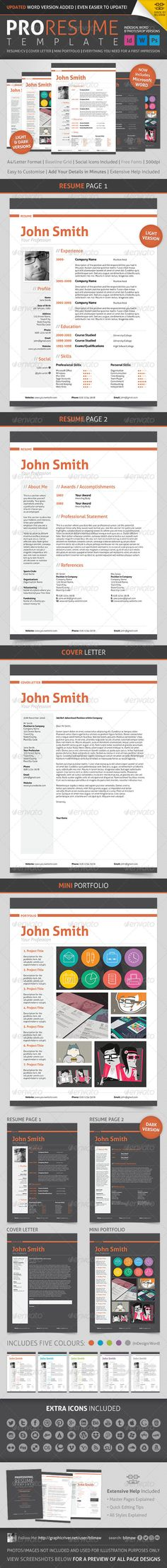 Resume\/CV - Sam Resume cv, Cover letter template and Cv cover letter - professional word templates