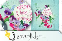 Mother day card by Lian-art on @creativemarket