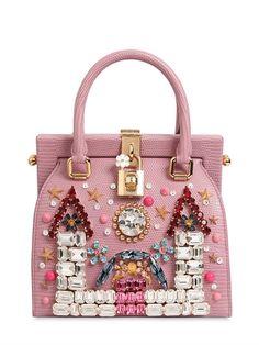 b645c07621 Castle Embellished Leather Dolce Bag