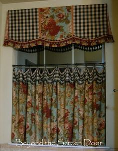 Valance-note sides are same as center fabric