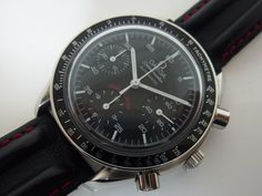 """OMEGA Speedmaster """"AC MILAN Limited"""" Chronograph Automatic Men's Watch 3810.51"""