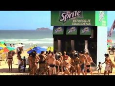 The Sprite installed a giant shower that looks like a giant Sprite soda dispenser on beach. They are available on popular beaches in Brazil and Israel. Cool idea!