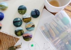 needle-felted brooches...by lilfishstudios