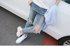 Pinksisly Women's Clothing, Clothes For Women, Denim, Casual, How To Wear, Pants, Shopping, Dresses, Fashion
