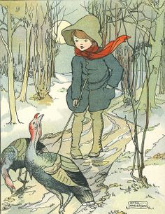 "Anne Anderson illustration of Annie Cecilia Dawson Oldmeadow (1875-1970) "" The Turkey's Trot """