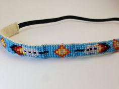 Native American Beadwork headbands | Native American Inspired loom beaded headband by ButteCreations