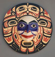 "Eagle Legend Panel, 2011  David Boxley, Tsimshian Nation   24"" diameter x 6"" deep"