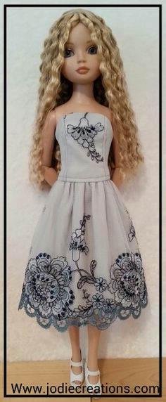 Ellowyne Wilde in embroidered french lace.  Www.jodiecreations.com