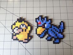 Pokemon Bead Sprite Set  Psyduck Family by ToughTurtles on Etsy, $5.50