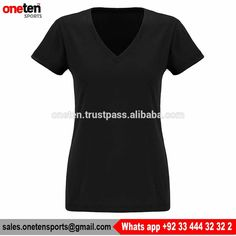 Women v-neck t-shirt - Women Gym Wear
