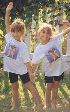 Olsen twins They were cute as kiddies here.