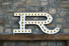 3D marquee letter by Luke Stockdale // typography
