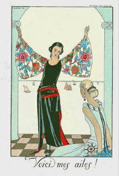 Fashion illustrations Art of century by George Barbier Art Deco Illustration, Vintage Vogue, Vintage Art, Vintage Images, Look At My, Art Deco Stil, Inspiration Art, 1920s Art, Art Deco Wedding