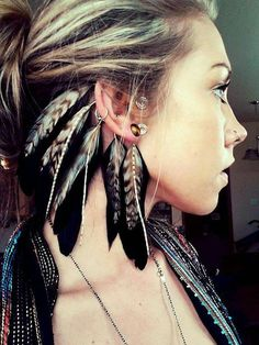 Made to order  Feather Ear Cuff by FlozotikCreations on Etsy