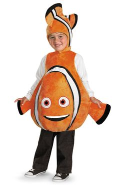 This Nemo costume may have Evan's name written all over it for Halloween 2014.