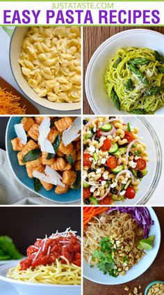 Find inspiration for your next meal with classic and creative pasta recipes, including quick marinara sauce, Greek pasta salad, easy mac and cheese, and more. Easy Pasta Recipes, Side Dish Recipes, Veggie Recipes, Cooking Recipes, Healthy Recipes, All You Need Is, Lotsa Pasta, Vegan Dishes, How To Cook Pasta