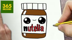 un pot nutella que j ai realise en 5 minute et qui est iper cute Drawing For Kids, Drawing S, Drawing Lessons, Youtube Kawaii, 365 Kawaii, Cute Kawaii Drawings, Step By Step Drawing, Learn To Draw, Easy Drawings