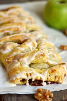 Easy Apple Walnut Strudel is the BEST way to wake up this fall! Perfect for breakfast, brunch or even dessert, this sweet treat is impossible to resist! @momontimeout