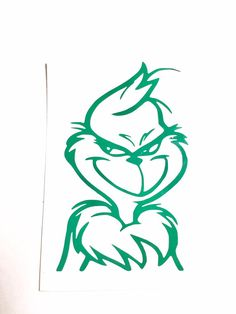 DIY Vinyl Decal The Grinch. If interest, contact me via email at Vinylmethis@aolcom