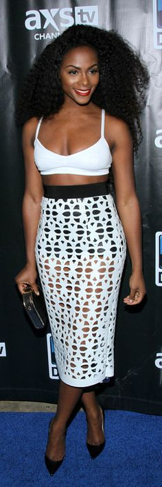 Tika Sumpter - This skirt can totally be crochet if it isn't already! #loveit
