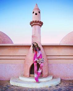 Outdoor fireplace inspiration...Destination Marrakech
