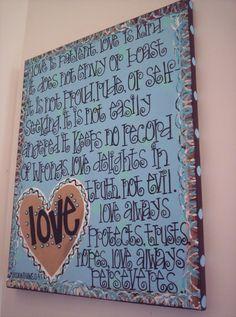 love is...(wall art)