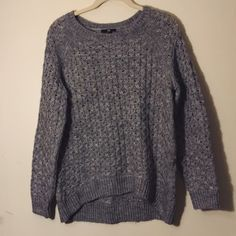 H&M Gray Sweater Gray open knit cozy sweater. Good condition. H&M Sweaters