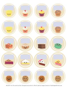 FREE Printable Cake Labels