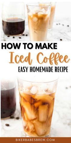 Healthy Iced Coffee, Vanilla Iced Coffee, Homemade Iced Coffee, Best Iced Coffee, Iced Coffee At Home, Easy Coffee, Coffee Ideas, Coffee Art, Coffee Poster