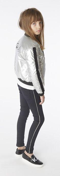 Karl Lagerfeld FW 19/20 Karl Lagerfeld Kids, Korean Street Fashion, Hooded Jacket, Street Style, Athletic, T Shirt, Jackets, Yoga, Girls