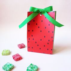 Watermelon favor bag, printable box. Tropical party. Bolsa  sandía imprimible…