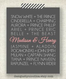 "Every princess has her fairytale..for the ""princess themed wedding"" wedding shower decor/sign idea"