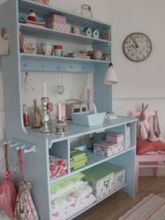 Sewing Room Storage Solutions | Sewing Rite Pistachio Green Sewing Storage Cabinet