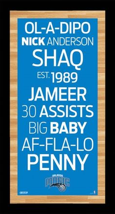 Orlando Magic Subway Sign Wall Art PhotoThis Orlando Magic vintage style subway sign rather than showing the stops along each subway line this item shows Baby F, Orlando Magic, How Big Is Baby, Framed Wall Art, Nba, Sign, Signs, Board