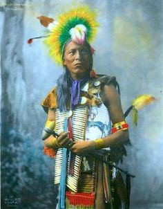 Kills on Horseback, Oglala Sioux, ca. 1899. Hand-colored and photographed by Herman Heyn. Read more at https://indiancountrytodaymedianetwork.com/gallery/photo/20-remarkable-hand-colored-portraits-american-indians-15749820 Remarkable Hand-Colored Portraits of American Indians - ICTMN.com