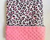 Lady Bug White Minky Baby Blanket Black Dot Back Plush Baby Blanket  GIrl or Boy  Infant Size  29 x 36. $45.00, via Etsy.