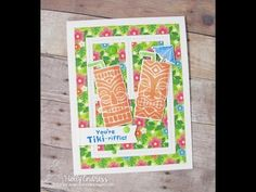 You're Tiki-rific Card by Holly Endress | Tiki Time Stamp set by Newton's Nook Designs #newtonsnook