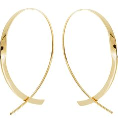 Lana Small 14K Curved Crossover Hoop Earrings ($695) ❤ liked on Polyvore featuring jewelry, earrings, white gold, rose jewelry, hoop earrings, 14k earrings, taper earrings and white gold earrings