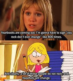 "My life as a pre-teen, I wanna go back. My husbands ""hall pass"" is Lizzie McGuire...I'm cool with that."