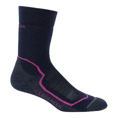 Icebreaker maxmized the comfort of all their socks, re-engineering them using new yarns that increase stretch, loft and softness while still maintaining exceptional durability. The Hike Medium Crew is the best cold weather hiking sock for miles.