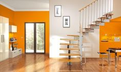 The Stilo modular staircase system by Ehleva staircases (the staircase kit department of Mobirolo staircase SPA Italy) gives a flexible and stylish option for main staircases or loft access.
