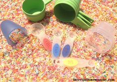 This simple to set up hands-on math activity is perfect for learning about measurement.