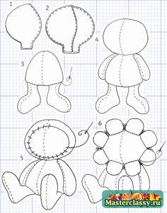 3 - Куклы Тильда Выкройки Пчелы и цветы Тео и Теа  Master classy - мастер классы для вас