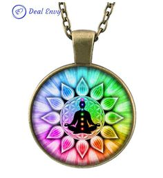 Colorful Flower of Life Chakras Chain Yoga Necklace – Deal Envy Colorful Flower of Life Chakras Chain Necklac Perfect Yoga necklace for all the Yoga Fans!! Beautiful Yoga Necklace is Available Now!! Grab Now Until Products E...