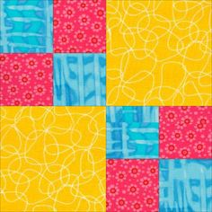Easy Quilt Patterns | pic double four patch quilt pattern Free quilt block patterns by Janet ...